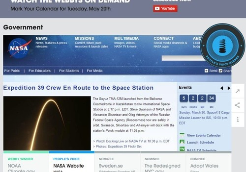 NASA Wins A Webby!