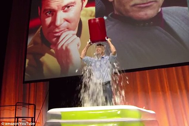 Amazon CEO, Jeff Bezos, takes the #ALSicebucketchallenge