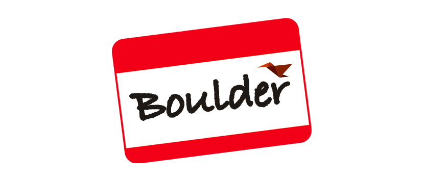 Boulder name tag meetup