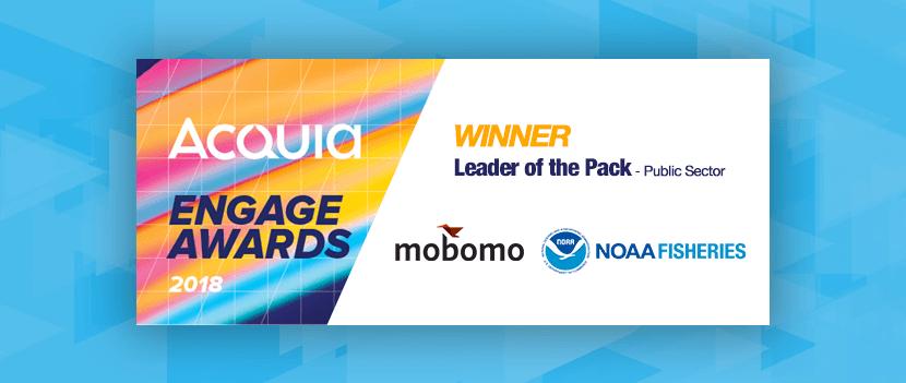 NOAA Fisheries and Mobomo win 2018 Acquia Engage Award