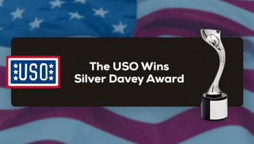 The USO Wins Silver Davey Award