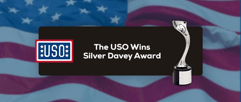 The USO Wins Silver Davey Award