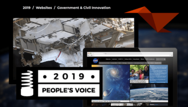 NASA Wins People's Voice Webby for Government & Civil Innovation