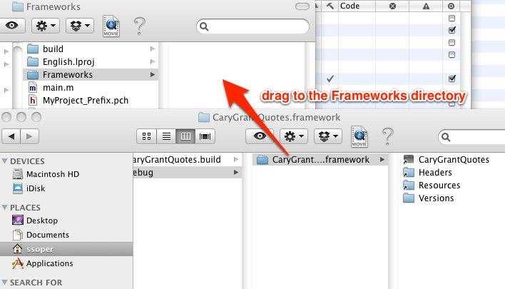 Drag frameworks directory