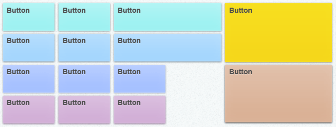 An image of several buttons with soft color gradients