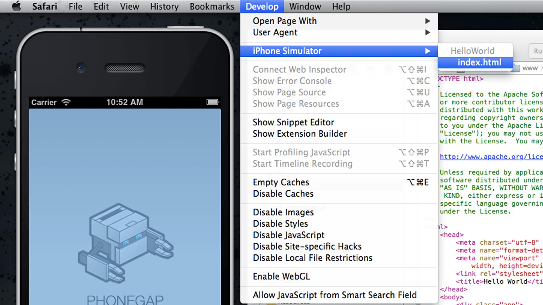 """""""Safari Developer Menu"""""""